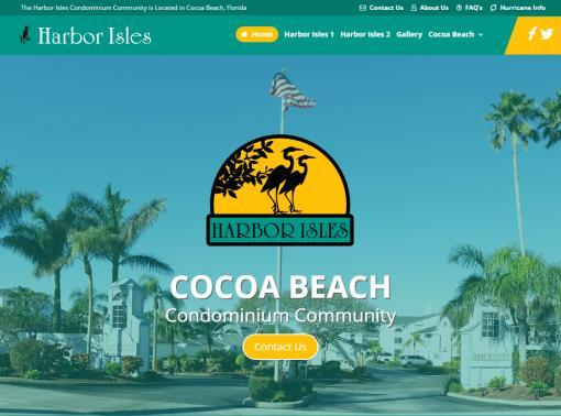 Harbor Isles Website Design After