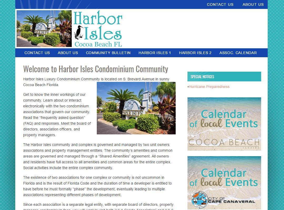 Harbor Isles Condominium Association Before