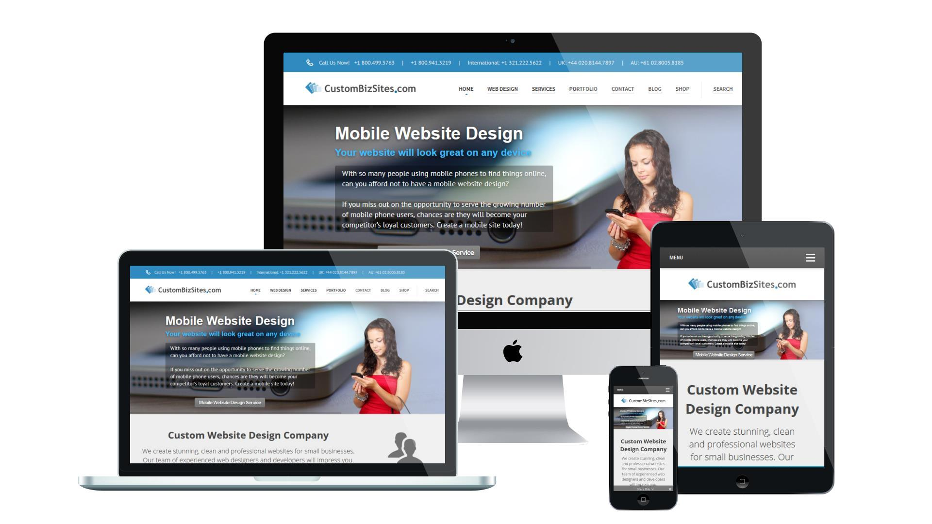 Mobile Website Design Example
