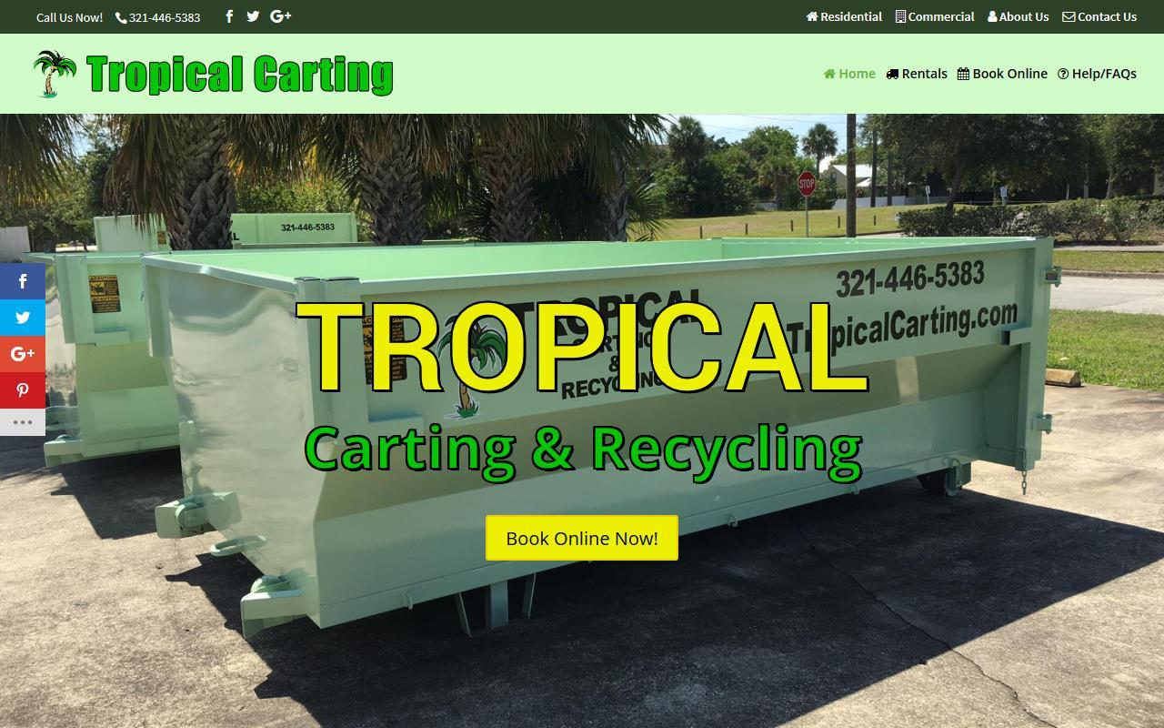 Tropical Carting and Recycling Web Design Project
