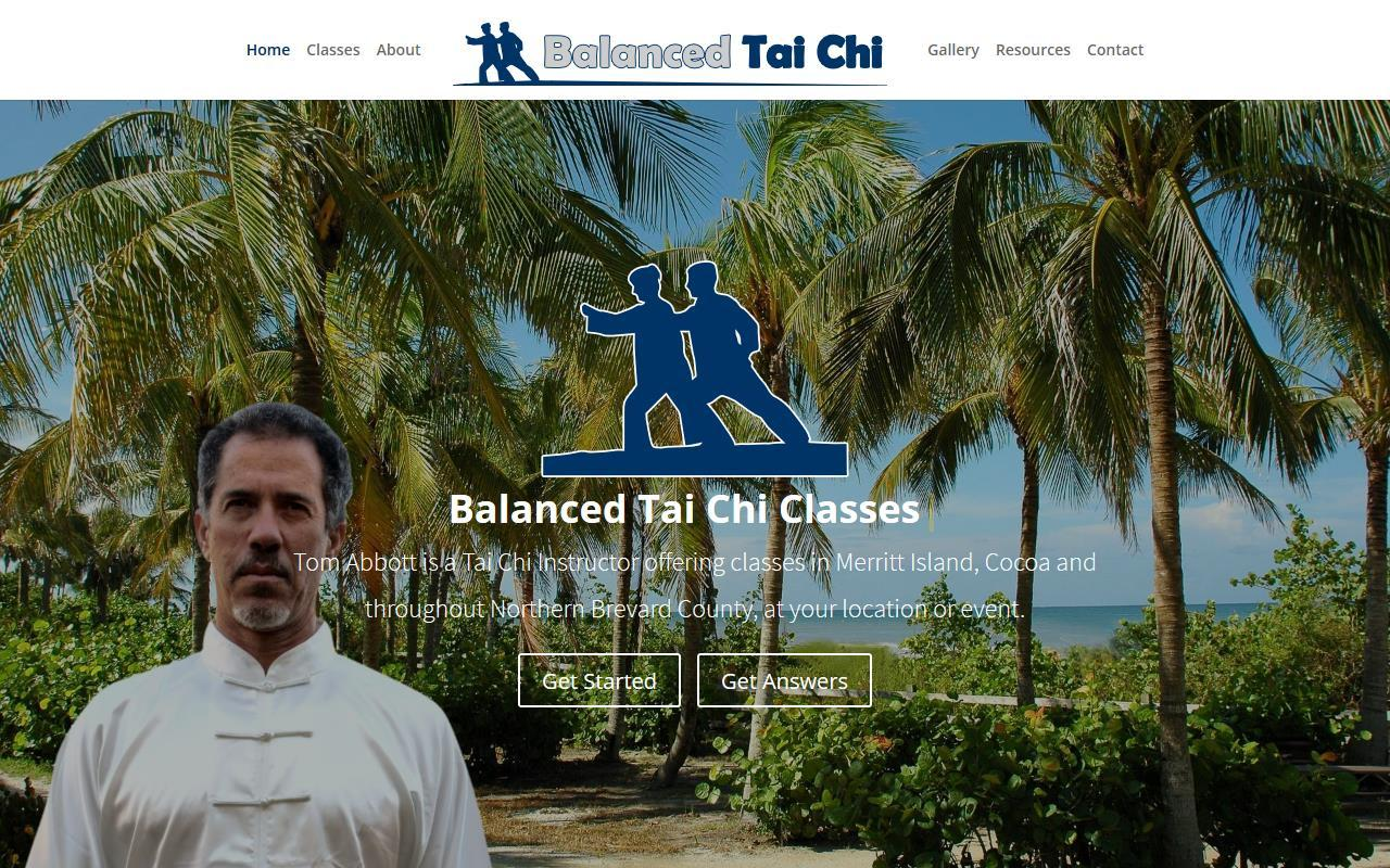 Balanced Tai Chi Web Design Project