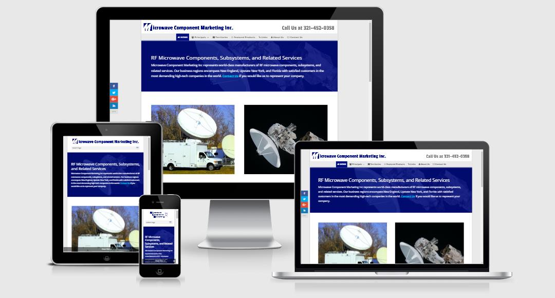 Microwave Component Marketing Responsive Website Design