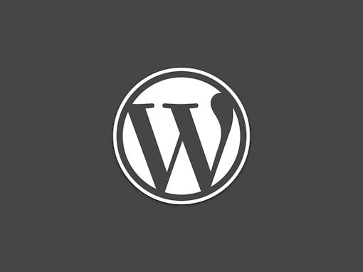 WordPress Logo Dark