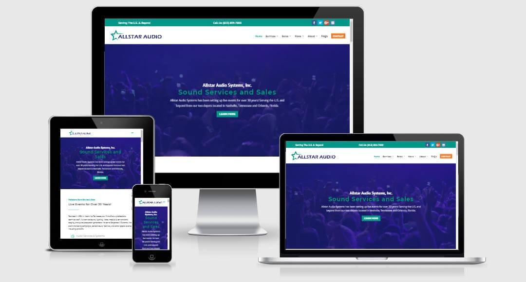 Allstar Audio Responsive Website Design Views