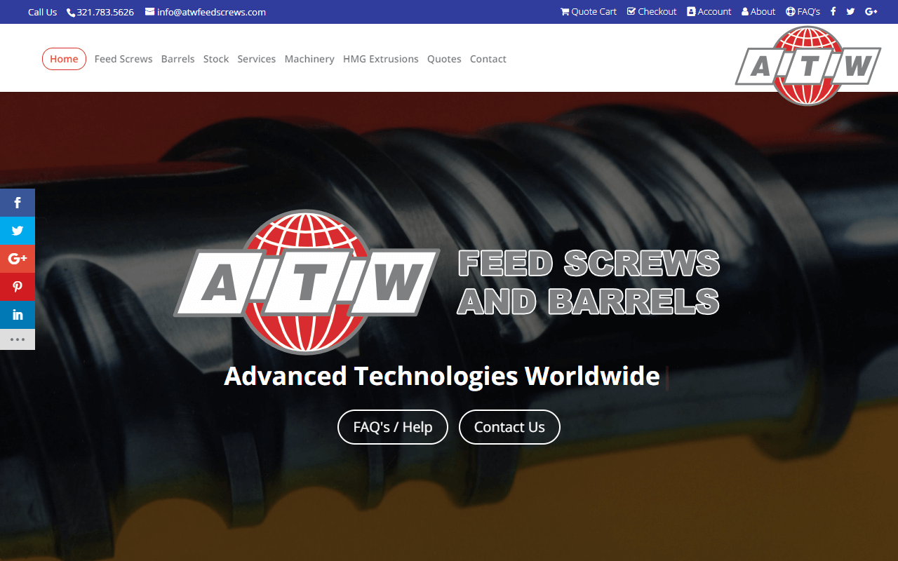 Advanced Technologies Worldwide WordPress Website Redesign Project