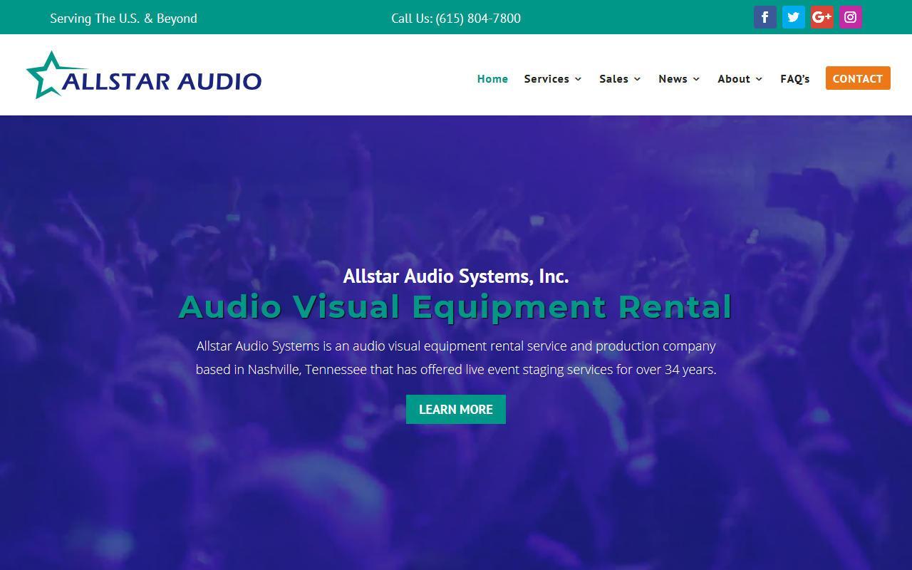 Allstar Audio WordPress Website Redesign Project
