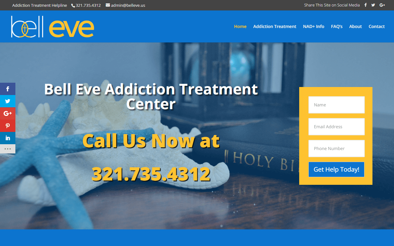 Bell Eve Addiction Treatment Center WordPress Website Redesign Project