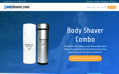Bodworx Body Shaver WordPress Website Redesign Project