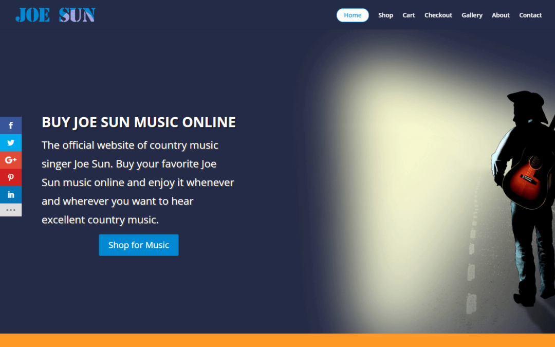 Joe Sun Music WordPress Website Design Project