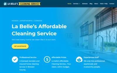 La Belle's Affordable Cleaning Service Website Design Project