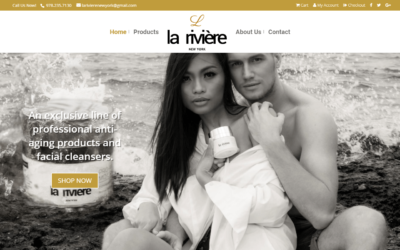 la rivière New York WordPress Shopping Cart Website Design