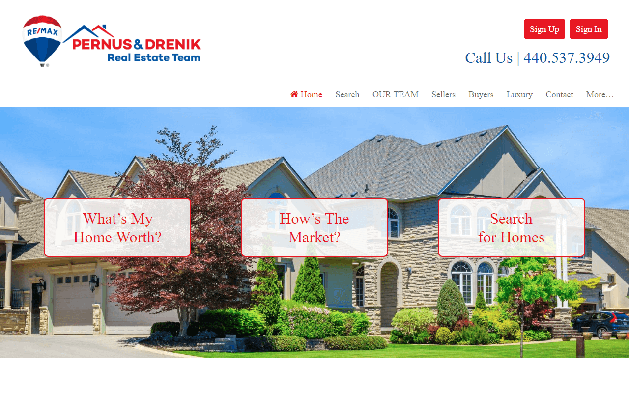 Pernus & Drenik IDX Real Estate Website Redesign Project