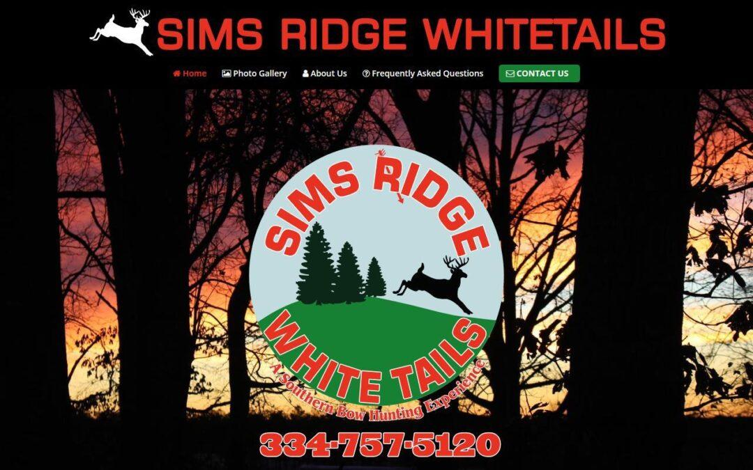 Sims Ridge Whitetails WordPress Website Design Project