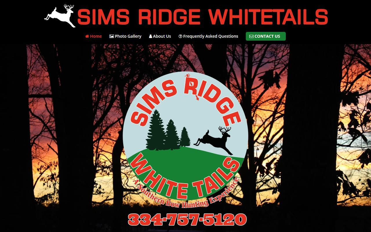 Sims Ridge Whitetails WordPress Website Design Project