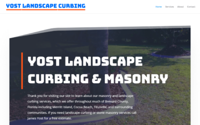 Yost Landscape Curbing WordPress Website Design Project