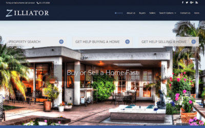 Zilliator Real Estate Professionals IDX Website Design Project
