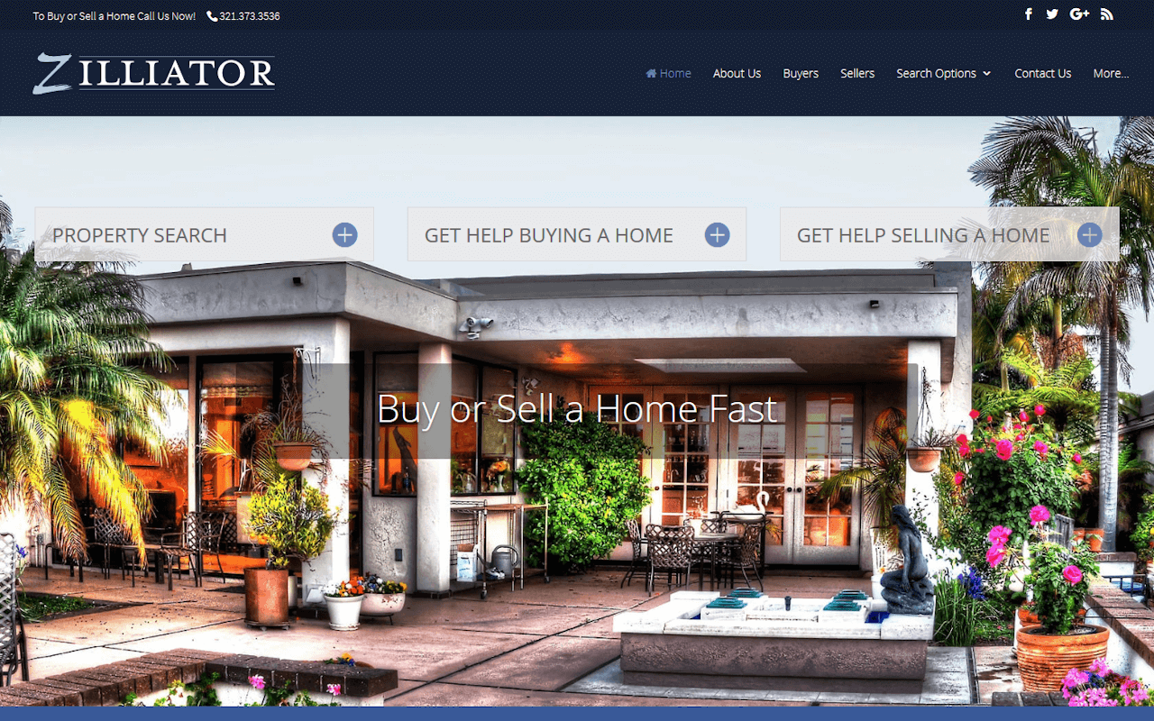 Zilliator Real Estate Professionals IDX Broker Website Design