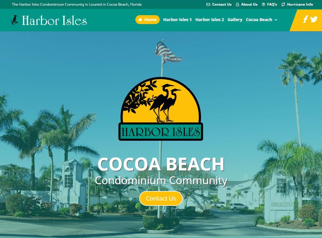 Harbor Isles Website Design After
