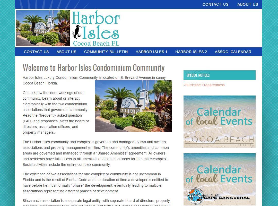 Harbor Isles Condominium Association Before