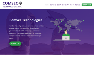 ComSec Technologies Florida Website Design Project