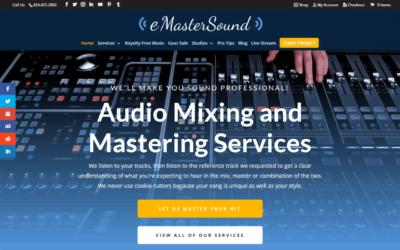 eMasterSound Audio Engineer WordPress Website Design