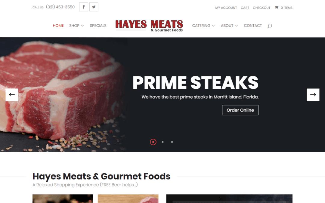 Hayes Meats WooCommerce Online Store Website Design
