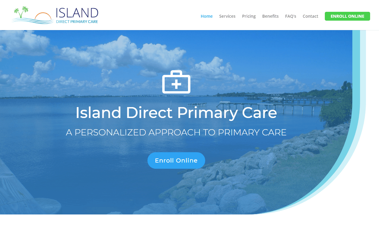 Island Direct Primary Care WordPress Website Design Project