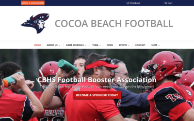 Cocoa Beach High School Football Website Redesign Project