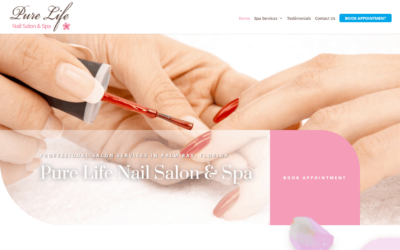 Pure Life Nail Salon and Spa WordPress Website Design