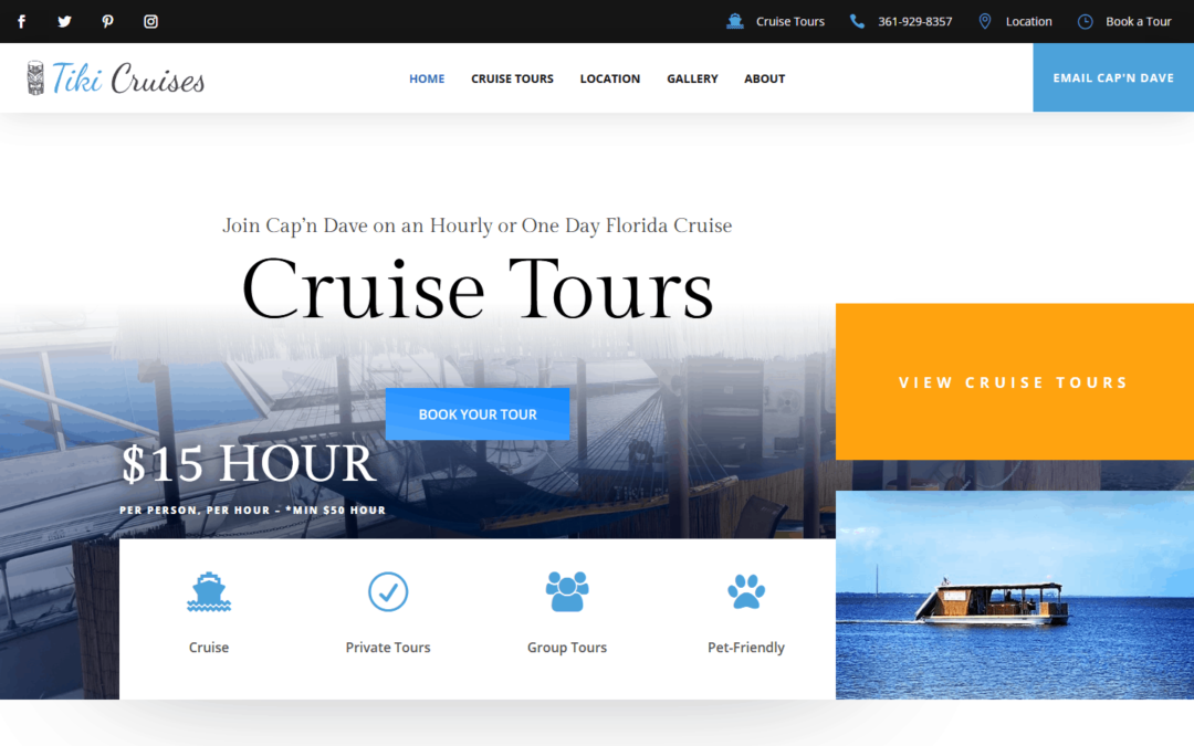 Tiki Cruises WordPress Website Design