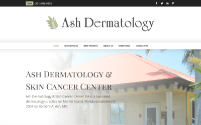 Ash Dermatology WordPress Website Design Project