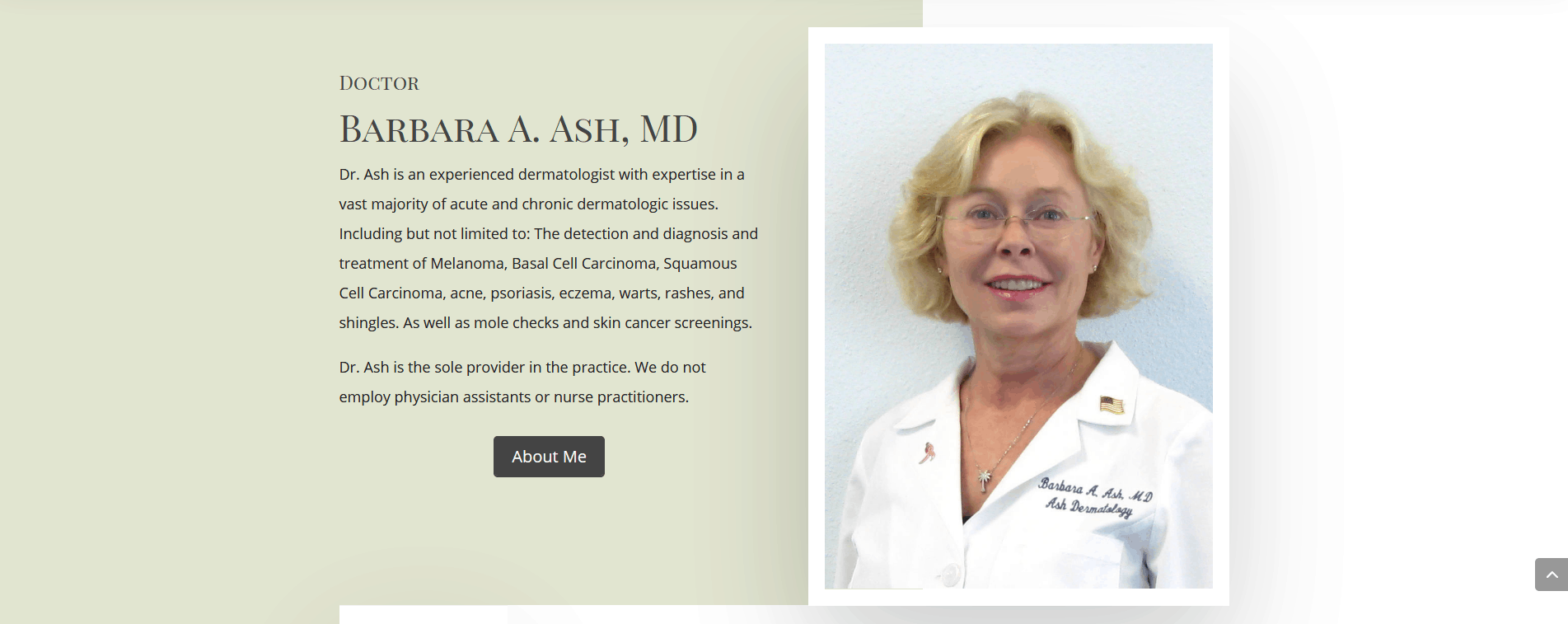 Ash Dermatology Merritt Island Wordpress Website Design Project