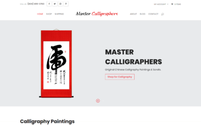 Master Calligraphers WooCommerce Shopping Cart Website