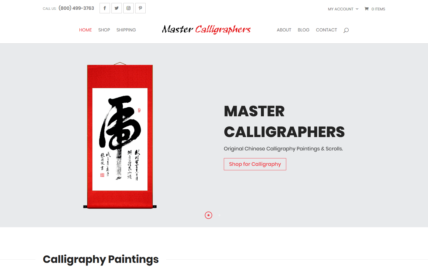 Master Calligraphers WooCommerce Website Design Project